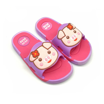 Girls Pattern Slide Sandals Casual Mules Shoes