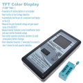 Multi-purpose Transistor Tester 128*160 Diode Thyristor Capacitance Resistor Inductance MOSFET ESR LCR Meter TFT Color Display
