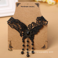 Butterfly Lace Crystal Beaded Choker Necklaces For Women