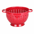 Red Painting Stainless Steel Colander with Ring Base