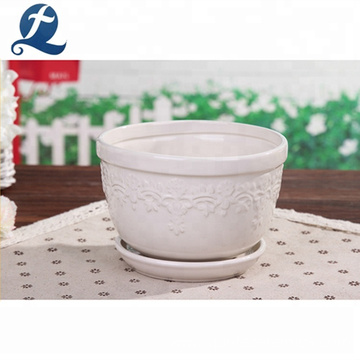 Wholesale Garden Home Ceramic Flower Pots Decorative Plant Pot