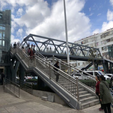 Prefabricated Steel Structure Pedestrian Bridge Building