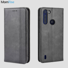 Luxury Retro Slim Magnetic Leather Flip Cover For MOTO One Fusion / Plus Case Book Wallet Card Stand Soft Cover Mobile Phone Bag