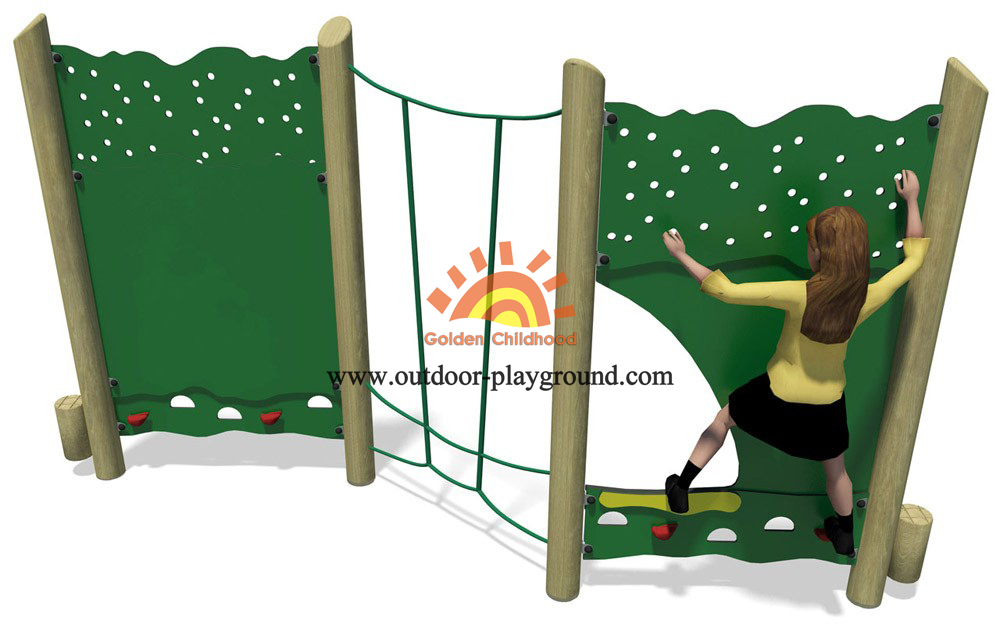panel climber outdoor playground structure
