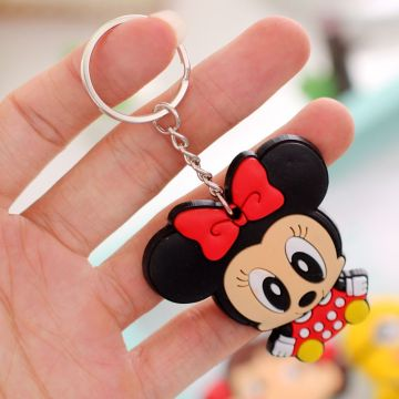 colorful durable rubber silicone custom keychain