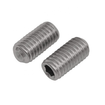 Metric Hexagon scoket set screws cup point