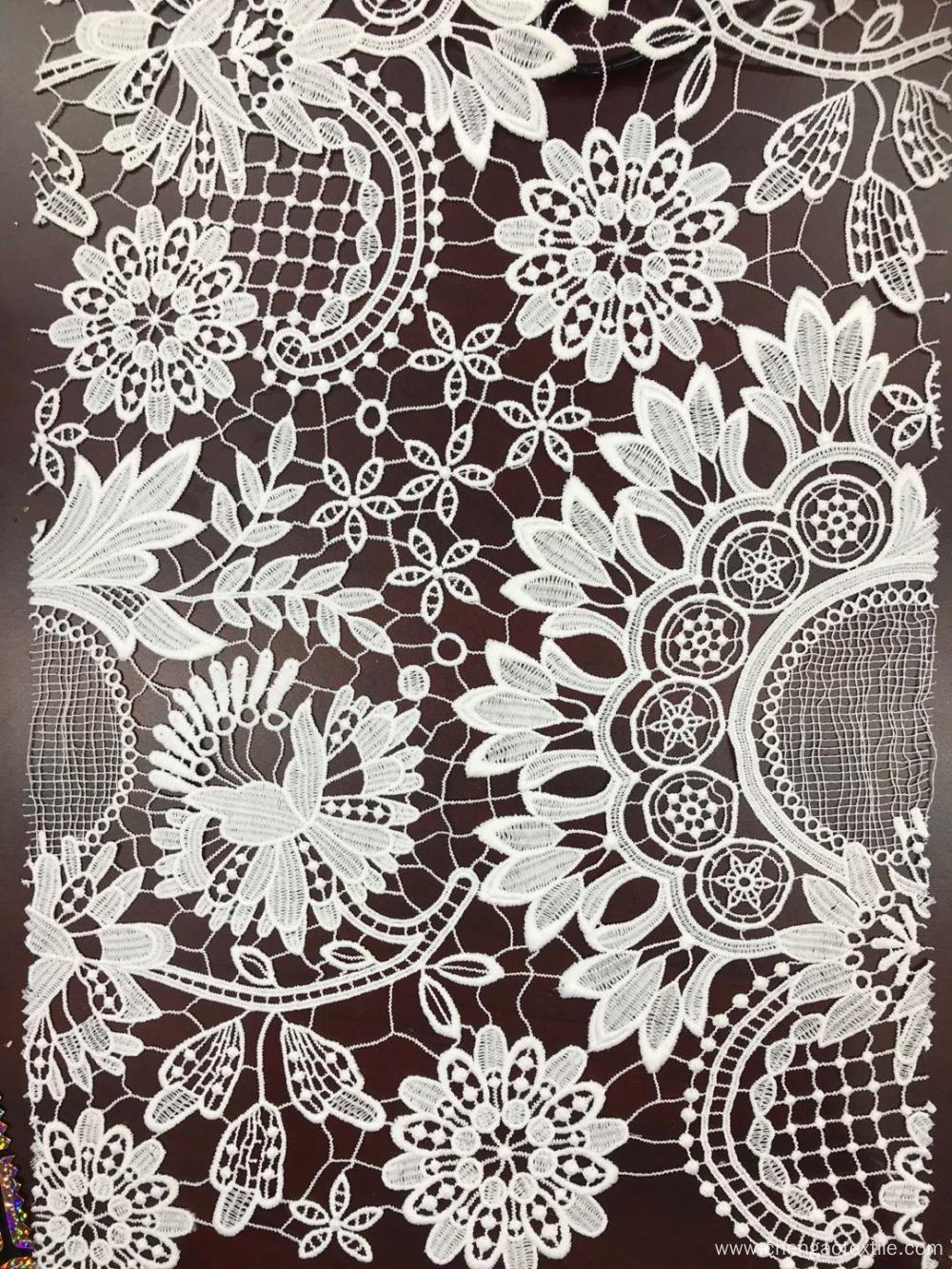 Branches And Flowers Design Chemical Embroider Fabric