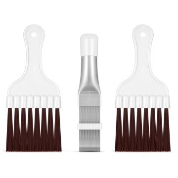 3 Pieces Air Conditioner Condenser Fin Comb, Fin Cleaning Brush Air Conditioner Fin Cleaner Refrigerator Coil Cleaning Whisk Bru