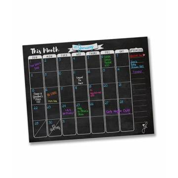 Advertising Black Magnetic Calendar