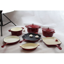 High Quality Porcelain Enamel Coating Cookware Sets
