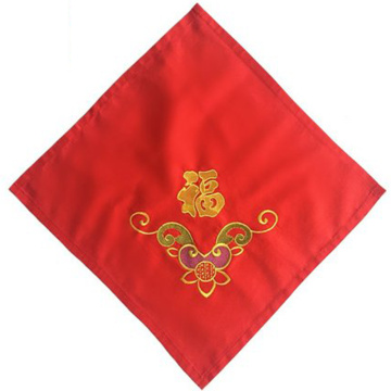 Handkerchief embroidery festive wedding centenary red