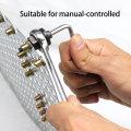 Hand Rivet Nut Gun Head with 10PCS Nuts Simple Rivet Nut Installation Manual Riveter Nut Tool Accessory for Nuts M3 M4 M5 M6 M8