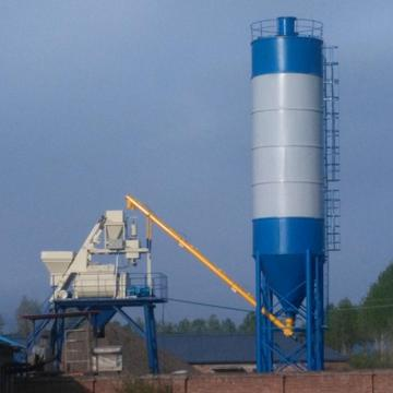 25m3/h small hopper type concrete batching plant