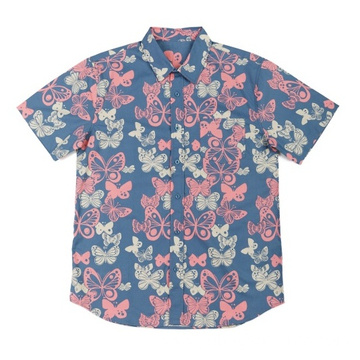 Men's woven cotton shirt in holiday and home