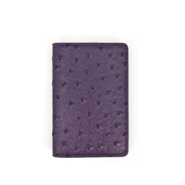 High Quality Sublimation Ostrich Leather Passport Holder