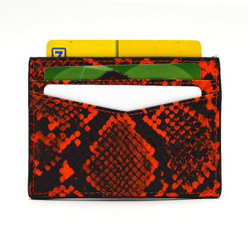 Luxury Natural Python Leather Atm Credit Card Holder
