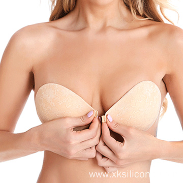 Backless invisible silicone self adhesive lace bra