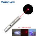 Mini red dot laser pointer USB rechargeable 3 in 1 flashlight UV light Lazer pen Power point multi-function lasers