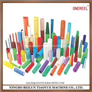plastic cylinderical sewing bobbin storage