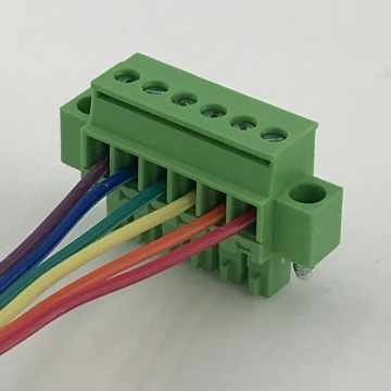 3.81mm female terminal block with locking flanges