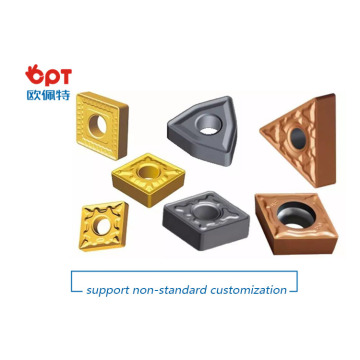 Coated carbide turning inserts for hardness steel