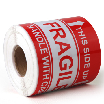 Permanent Adhesive Fragile Handle With Care Warning Label
