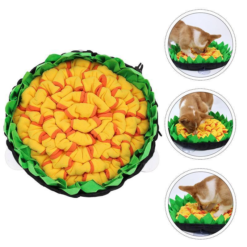 Dog Snuffle Mat Lick Pad Pet Slow Eat Training Foraging Pet Treat Puzzle Slow Food Bite-Resistant Anti-Choking Mat(Random Color)