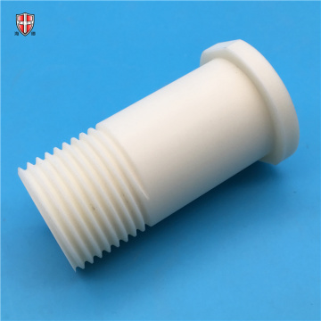 insulated alumina ceramic pitch threaded bolt sleeve