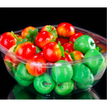 Plastic fruit box for small tomatoes