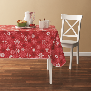 Tablecloth PE with Needle-punched Cotton Classic Snow Square