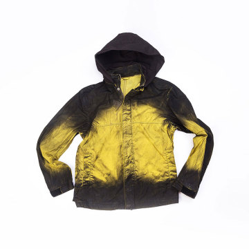 Men`s 100% Polyester garment dyed jacket