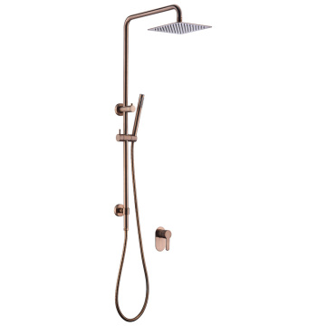 Rose gold Square Shower Kit Set