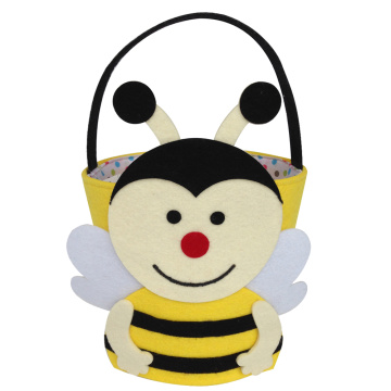 Easter felt bee pattern holiday gift bucket
