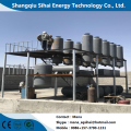 Smell-less output from waste oil refining distillation plant