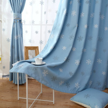 Curtain Cloth Factory Direct Curtain Wholesale Zero-Cut Ramie Velvet Embroidered Window Shade Cloth Yarn Living Room Bedroom