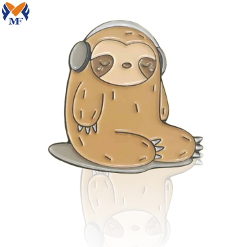 Metal Custom Sloth Soft Enamel Pin Badge