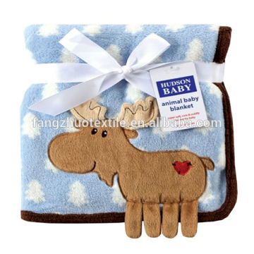 wholesale  factory  embroider baby fleece blanket