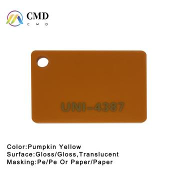 Pumpkin Yellow Acrylic Sheet