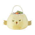Easter plush chick shape gift bag