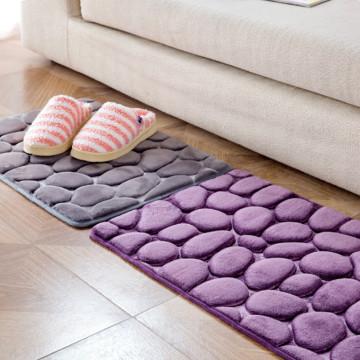 40x60cm bath mats Coral Fleece Bathroom Memory Foam Rug Kit Toilet Non-slip Mats Floor Carpet Set Mattress for Bathroom Decor