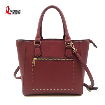 Wine Red Classic Tote Shoulder Bags Girly