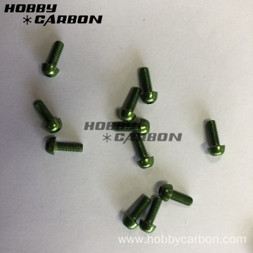 Green M3 Auminum Screws Post