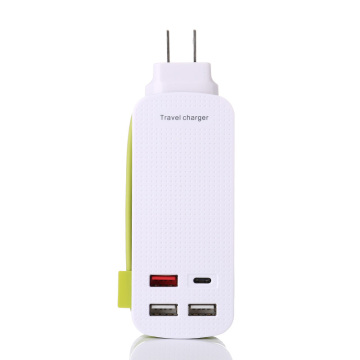 US EU UK Type C QC3.0 Travel Charger