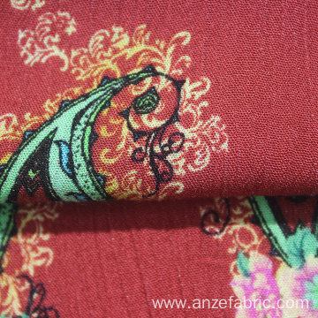 100 rayon printed gauze fabric for summer dresses