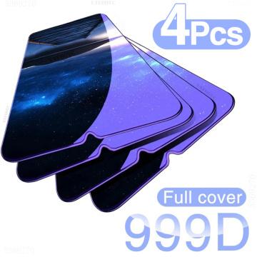 4PCS Full Cover Tempered Glass For Xiaomi Redmi Note 9 8 Pro 7 5 6 K20 9 Pro Max 8T Screen Protector For Redmi 8A 8 7 7A 9 Glass