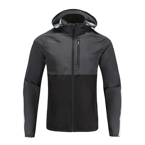 Mens Soccer Wear Zip Up Coat Contract