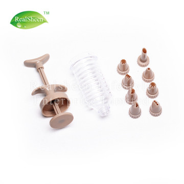 Plastic Icing Syringe Piping With Tips And Nozzles