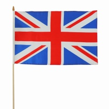 Silk printing polyester UK national hand banner 30*45CM