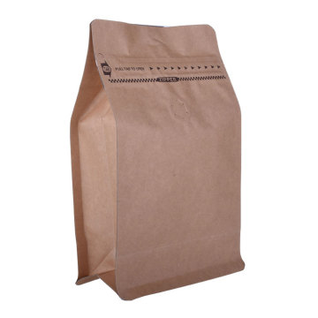 Custom Food Ziplock Kraft Paper Coffee Packaging Bags with Your Own Logo