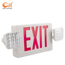 Combination of eixt sign and emergency light